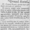 Información sobre el Grand Hotel 1907